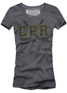 CPR Gear's Boston Bruins women's t-shirt - we're giving one away (see the end of the interview!)