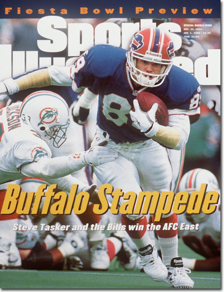 5d894993c Steve Tasker appeared on the cover of a December 1995 issue of Sports  Illustrated.