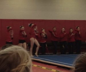 Barnstable on floor exercise at the South Sectional on Feb. 23, 2013.