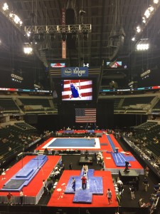 The Junior Men's competition at the 2015 P&G Gymnastics Championships at the Bankers Life Fieldhouse.